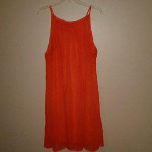 MY MICHELLE Orange Tie  Halter Dress 1X
